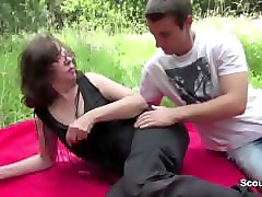 Public, German, Step mother fuck his step son