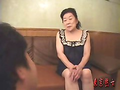Japanese granny seduced