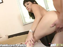 Whore, Ass, Caught, Mom and dad fuck sons gf while