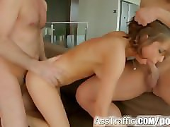 Rough, Teen, Ass, Hot blonde rough double anal