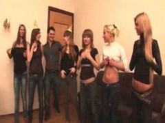Orgy, Russian, Student, Shemale stocking orgy