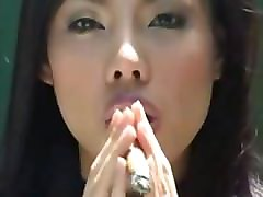 Asian, Smoking, Smoking cigar