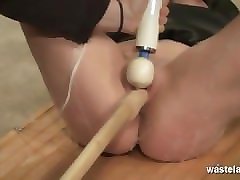 Blonde, Orgasm, Slave, Toys, Tied, Asian american lesbian sex slaves