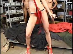 Anal, Blonde, Brutal, Cute, Blonde gets eight anal creampies in a row