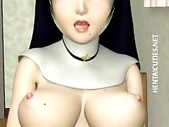 3D, Nun, Stockings, Dildo, 3d stocking