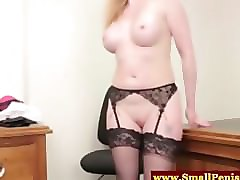 Small Cock, Milf, Strip, Hairy milf strip and fuck