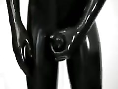 Panties, Latex, Gloves, Tight, Solo squirt latex