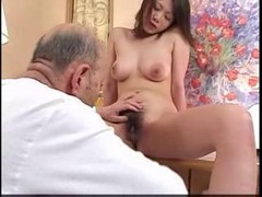 Asian, Husband, Old Man, Seducing old man