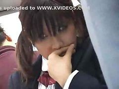 Asian, Bus, Japanese, Japanese schoolgirl in train