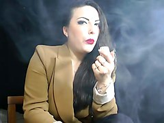 Fetish, Smoking, Brunette smoking fetish