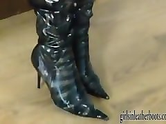 Blonde, Boots, Babe, Leather, Wet, Solo boots webcam