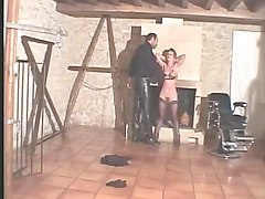 French, Slave, French mistress whipping her slave