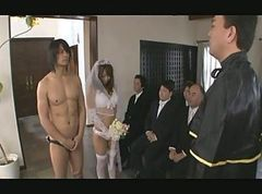 Asian, Gangbang, Japanese, Bride, Wedding, Asian lesbian