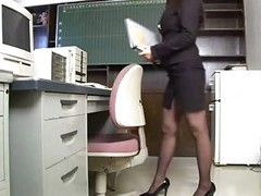 Asian, Office, Amazing nurse gets fucked in office