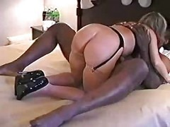 Amateur, Blonde, Interracial, Creampie, Milf, Interracial boots