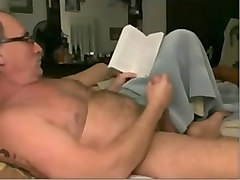 Old Man, Big Cock, Horny old man suck tit