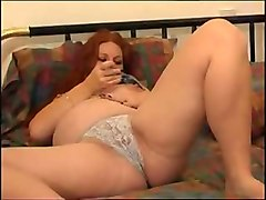 Redhead, Hairy pregnant solo