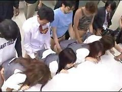 Asian, Japanese, Japanese bank robbery orgy scene