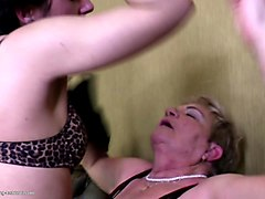 Granny, Group, Lesbian, Piss dolly buster group sex