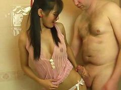 Blowjob, Bath, Cute, Thai, Busty-thai-amateur-gives-a-blowjob-and-gets-fucked