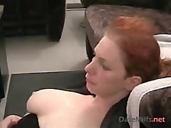 German, Facial, Milf, Redhead, Milf facial outdoor