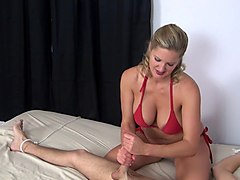 Orgasm, Sexy mistress gives slave post orgasm torture