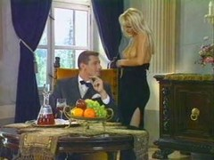 Blonde, Secretary, Cleans the toilet with her tongue and drinks piss
