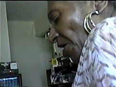 Granny, Black, Blowjob, Double black