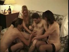 Ffm, French, Group, Fisting, French whore slave banged