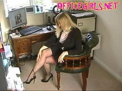 Black, Stockings, Secretary, Jelena jensen stockings