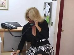 Secretary, Big Tits, Mature, Secretary affairs