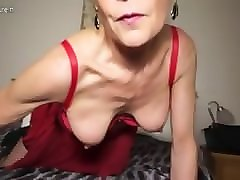 British, Milf, Dildo, Rough milf abused