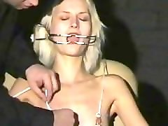 Amateur, Blonde, Needle, Slave, Tied, Tit turture needle