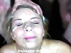 Blonde, Bukkake, Fetish, Street czech