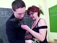 Milf, Son tricks mom and gets her pregnant