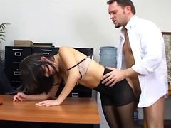 Bus, Panties, Office, Pantyhose, Secretary, Bdsm office secretary bondage fuck
