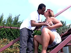 Amateur, Black, Amateur mature outdoor dped