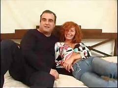 Mature, Redhead, Russian mature is gangbanged