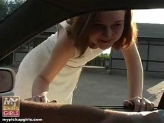 Car, Teen, Car handjob