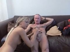 British, The old sucking the cock in front of my husband