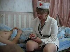 Nurse, Mature, Busty hot doctor and nurse fuck their sleeping