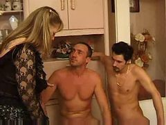 French, Threesome, Mature, Mature girl threesome