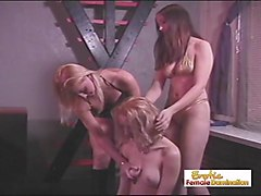 Slave, Slave girl locked up with handcuffc bend over