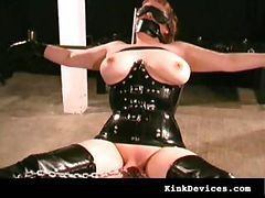 Rubber, Latex, Slave, Milf, Two milf slaves bound and tortured 2