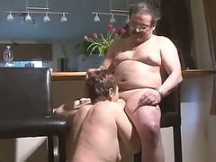 Kitchen, Couple, Mature, Young virgin couple