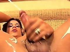 Big Cock, Shemale double anal self anal guy own cock