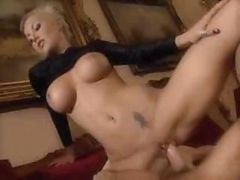 Blonde, Babe, Hard retro sex action with blonde