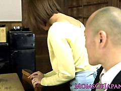 Bus, Busty japanese nailed before cock sucking