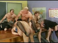 Granny, Group, Stockings, Grannies group sex