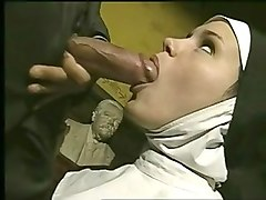 Nun, Amateur rough and slapping sex